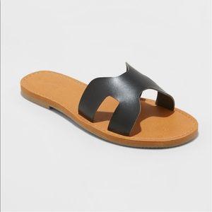 universal thread faux leather jenny slide sandal
